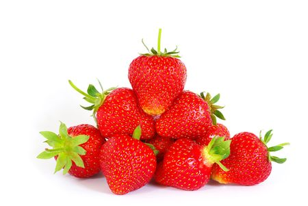 fruitage: The strawberry isolated over white Stock Photo