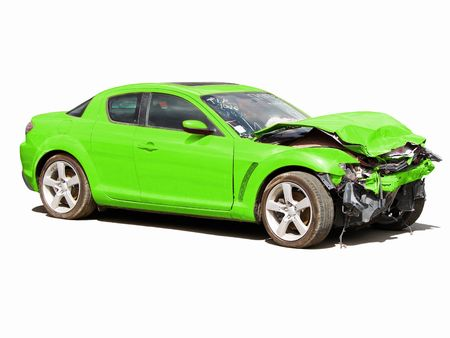 auto accident truck hit right front Stock Photo - 5334235