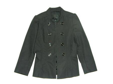 Black jacket isolated on the white backrgound Stock Photo - 5456745