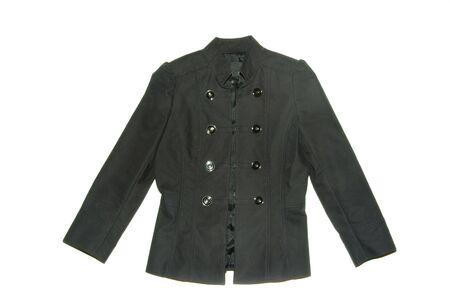 Black jacket isolated on the white backrgound Stock Photo - 5573140