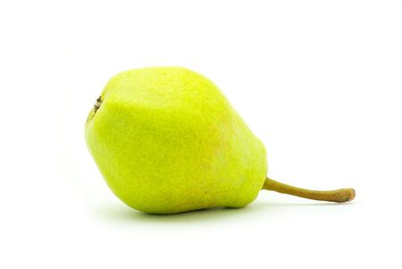 quencher: ripe fresh green pear isolated on white Stock Photo