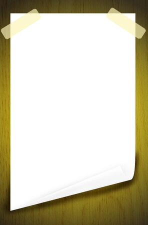 blank white paper background on the wood photo