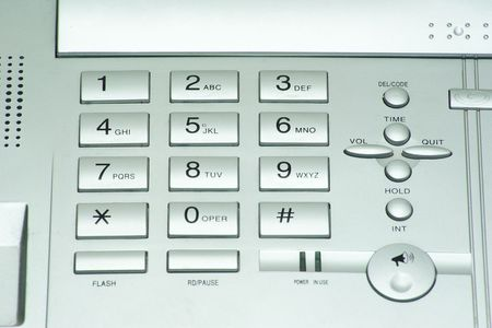 grey phone keypad close up Stock Photo - 6557683