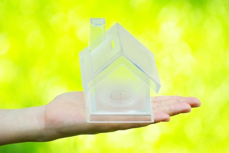 The house in human hand Stock Photo - 7519687