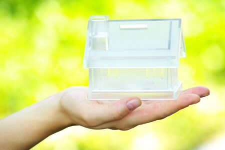 The house in human hand Stock Photo - 7558462
