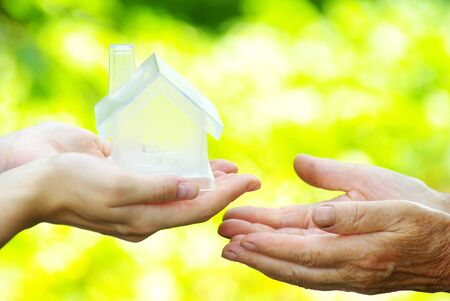 The house in human hand Stock Photo - 7586694