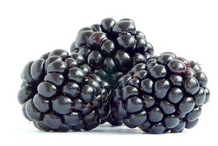 BlackBerry geïsoleerd op witte achtergrond Stockfoto
