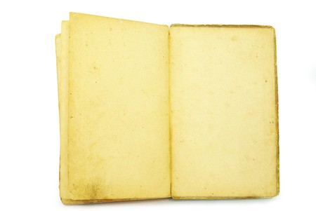 old book on the white background with clipping path photo