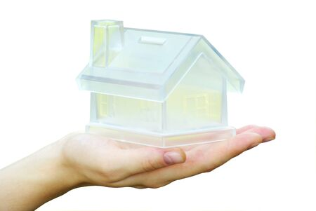 The house in human hand Stock Photo - 7708397