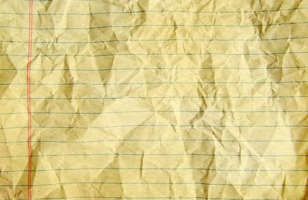 wadded: piece of white paper, great for textures and backgrounds. Stock Photo