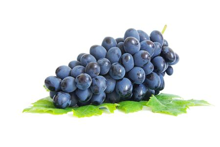 Fresh grapes brunch with green leafs Stock Photo - 7708627