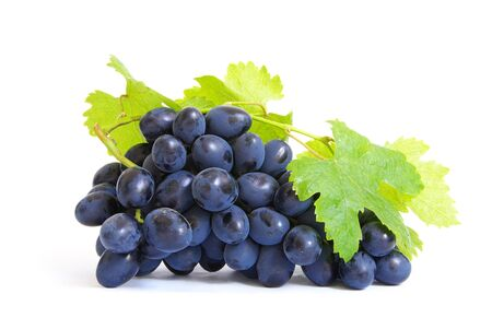 Fresh grapes brunch with green leafs Stock Photo - 7821791