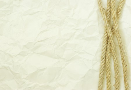 rope isolated on a white background photo