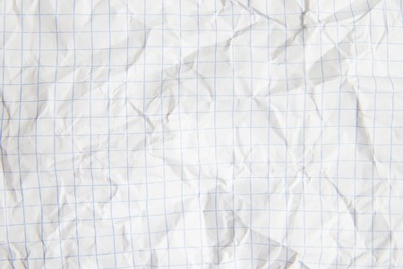 wadded: crumpled paper great for textures and backgrounds Stock Photo