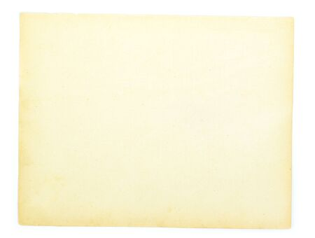 old note paper isolated on white background photo