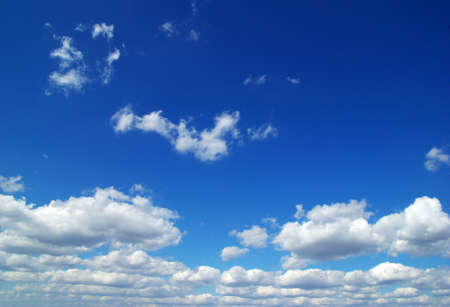 cloudiness: blue sky background with tiny clouds Stock Photo