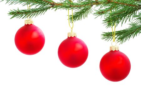Christmas decoration isolated on the white background photo