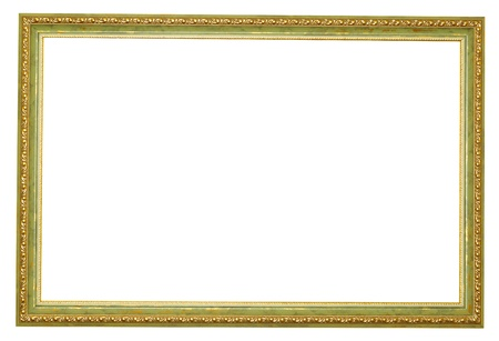 Picture gold frame with a decorative pattern Stock Photo - 8320752