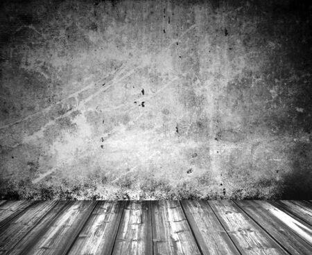grunge interior: viejo piso de madera interior grunge