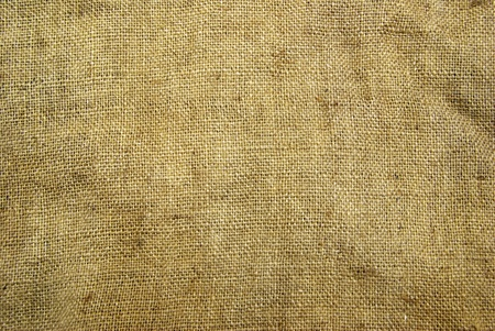 burlap: Background old  sack by a large plan Stock Photo