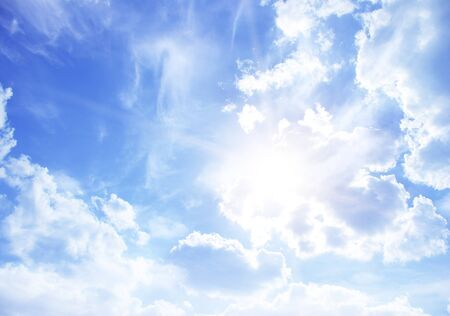 cloud scape: Blue sky background with tiny clouds