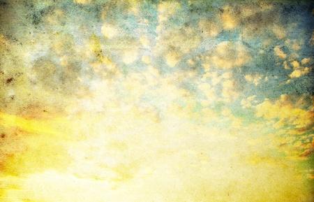 retro image of cloudy sky photo