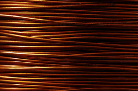 A roll of copper wire photo