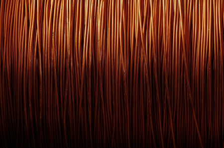 A roll of copper wire Stock Photo - 8997649