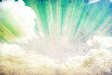 grunge layer: grunge background of a sky with clouds Stock Photo