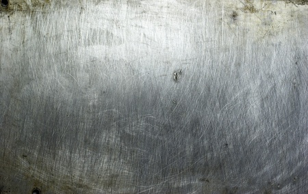 brushed aluminium: old grunge metal plate steel background