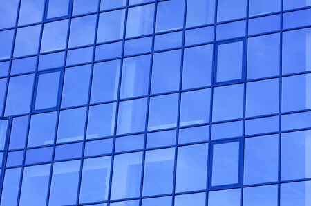 modern glass apartment blocks of skyscrapers  photo