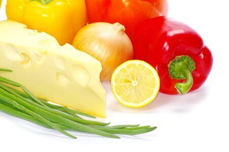 vegetable isolated on white background photo