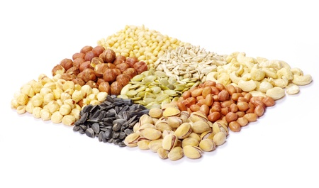 seeds and nuts with collection Stock Photo - 9215163