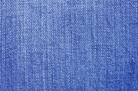 Textured striped blue jeans denim linen fabric background photo