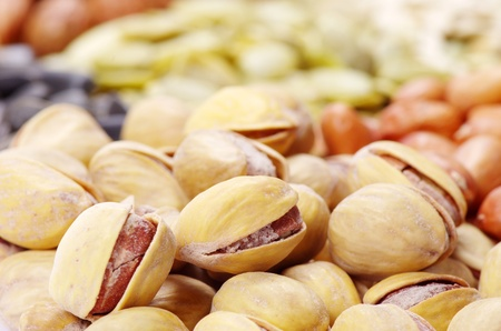 seeds and nuts with collection Stock Photo - 9215519