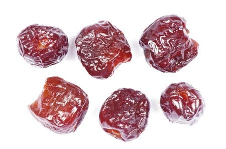 dryed: dryed dates on white background Stock Photo