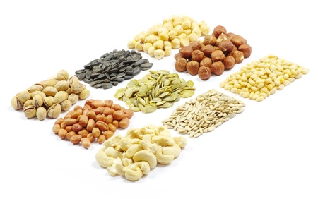 seeds and nuts with collection Stock Photo - 9245527