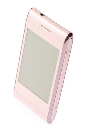 touchscreen smartphone isolated on white Stock Photo - 9246430