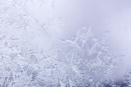 frosted glass: Frosty natural pattern on winter window