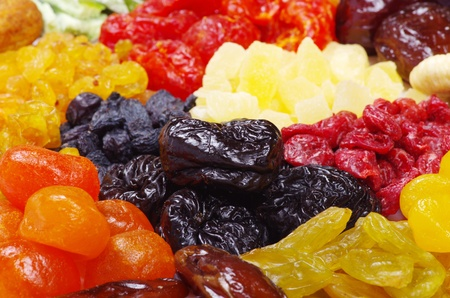 Background made of assorted dried fruits Stock Photo - 9436035