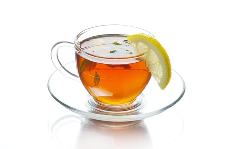 tea in cup isolated on white background Stock Photo