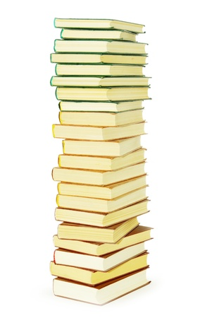 Stack of books isolated over white background photo