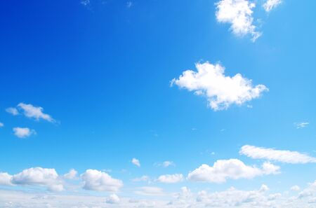 clouds in sky: blue sky with clouds and sun