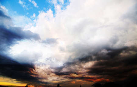 sky with clouds and sun photo