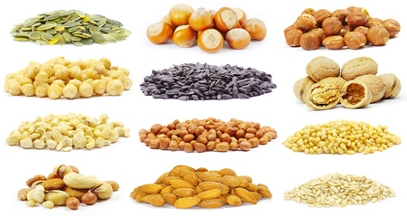 seeds and nuts with collection Stock Photo - 10898624
