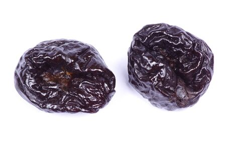 dried plum on a white background photo