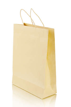 color shopping bag isolated on white background photo