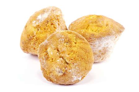 sweet cupcakes  isolated on white background photo