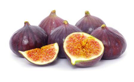 purgative: fresh figs isolated on white background Stock Photo