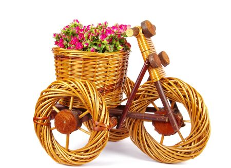 Decorative  bicycle vase with flowers photo
